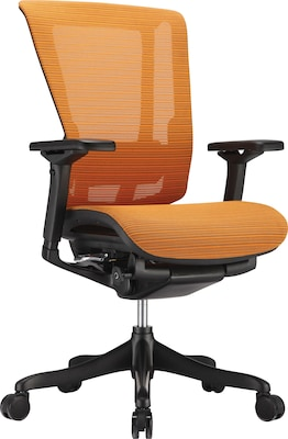 Orange Office Chairs Raynor Nefil Elite Smart Motion Mesh Managers Chair 3d Orange
