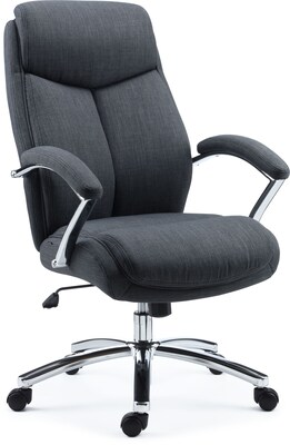 Fit Chair Quill Brand Fayston Fabric Computer And Desk Chair Charcoal 51462