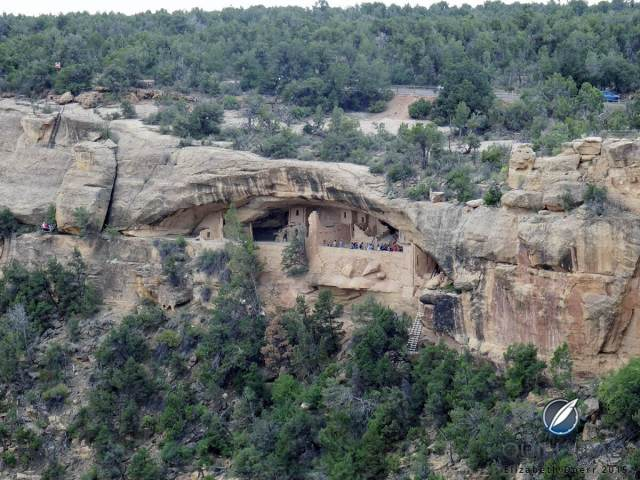 Balcony House in Mesa Verde National Park, Colorado: this is one of the rare cliff dwellings that faces eastward instead of south for purposes of astronomy