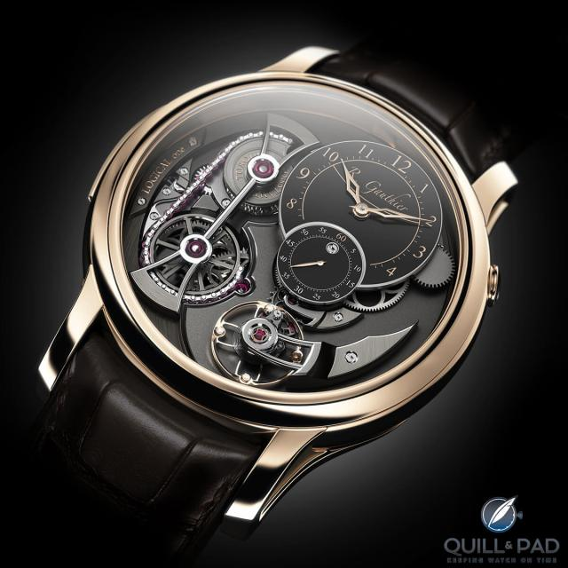 Romain Gauthier Logical One in red gold with black enamel dial