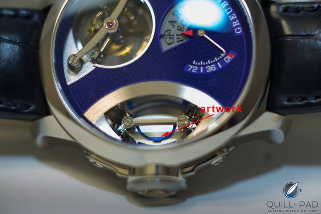 Can you see it? Willard Wigan's miniature sculpture in plain sight on Greubel Forsey's Art Piece 1