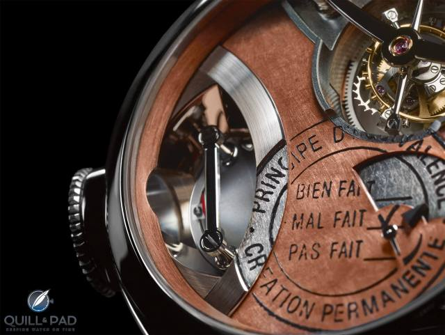 Close up look at the dial of the Greubel Forsey Art Piece 2 Edition 1 Filliou in white gold