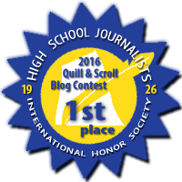 First Place in 2016 Quill & Scroll Blogging Contest