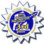 Third Place in 2016 Quill & Scroll Blogging Contest