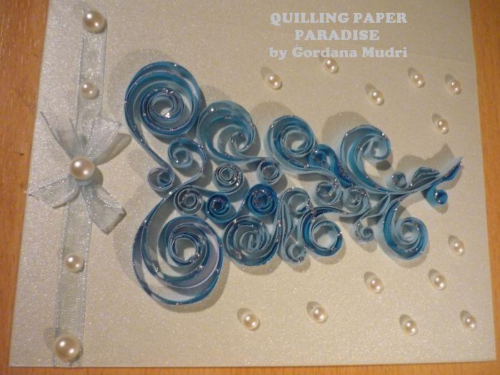 Boine Estitke Christmas Cards Quilling Paper