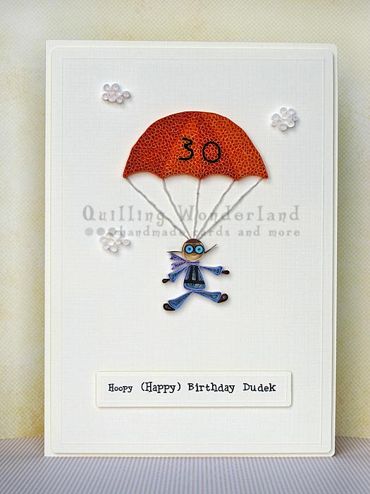 Parachute 30 Birthday Card