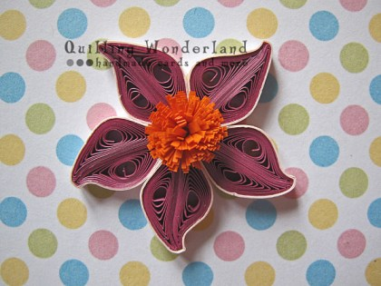 Tutorial quilled purple flower