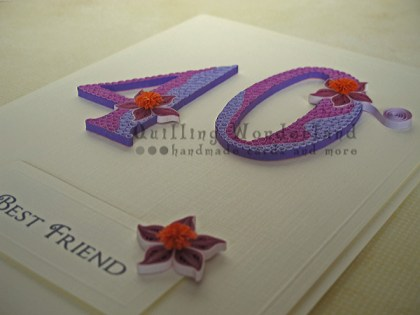 Birthday card in quilling