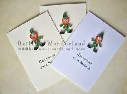 Greetings from ireland in quilling