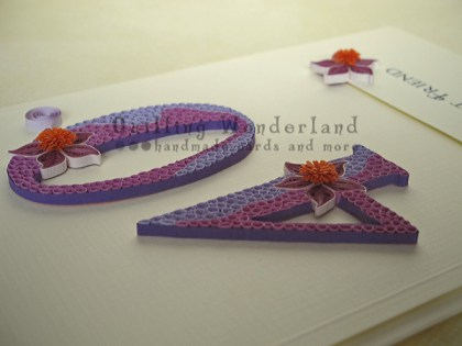 Quilling 40th Birthday Card