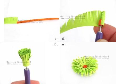 Fringed flower tutorial