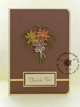 Earthy Thank You card