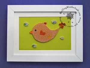Johny the bird - nursery art