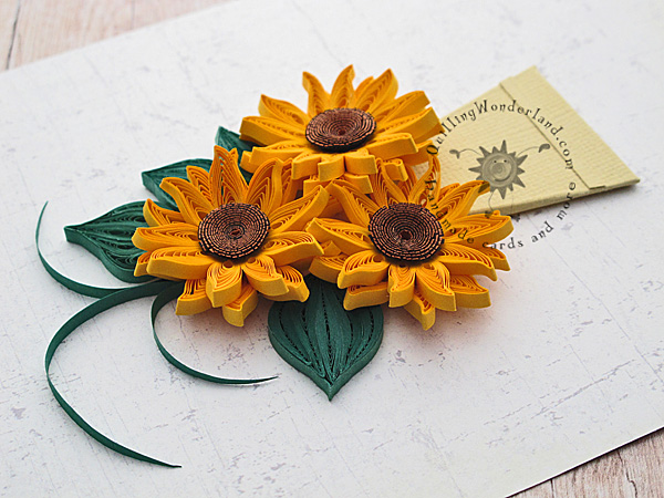 quilled mini sunflowers