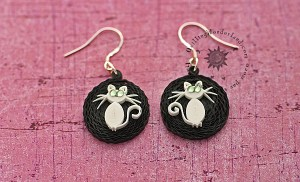 Quilling Cat Earrings