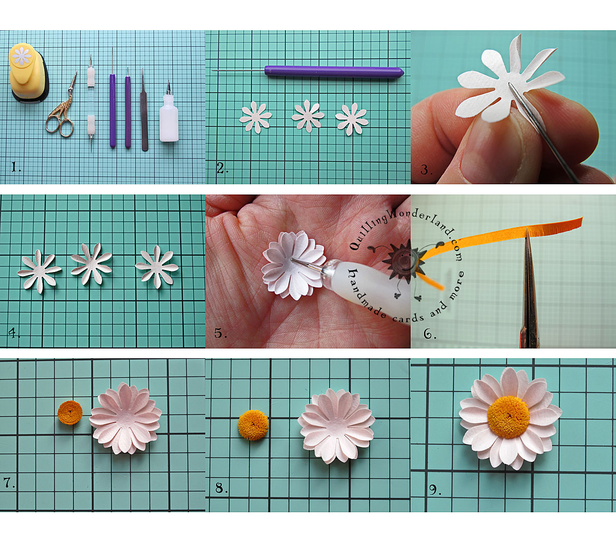 Simple Paper Daisy Tutorial