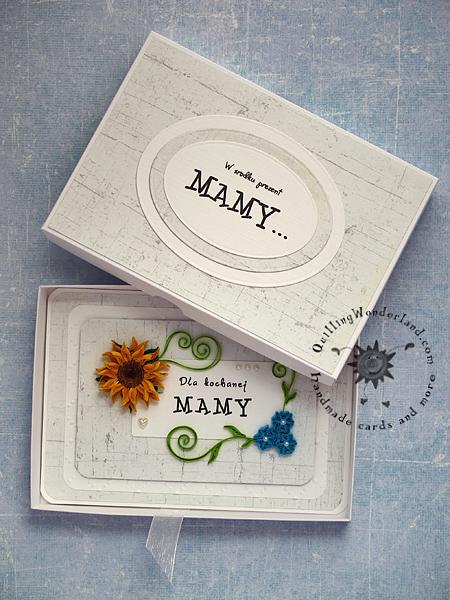 boxed handmade card quilling wonderland