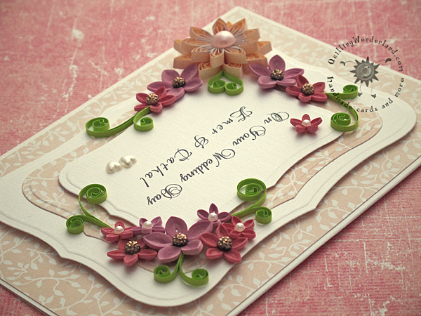 Floral Wedding Congratulations Card