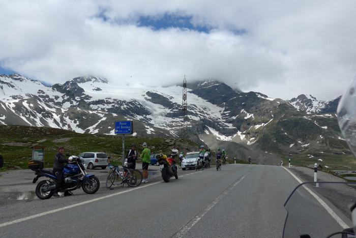 Bernina pass at the top
