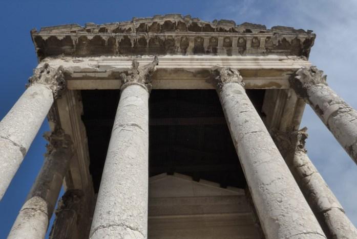 Templo de Augusto. Monumento da roma antiga. Pula