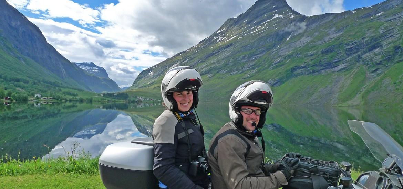 Noruega viagem de mota