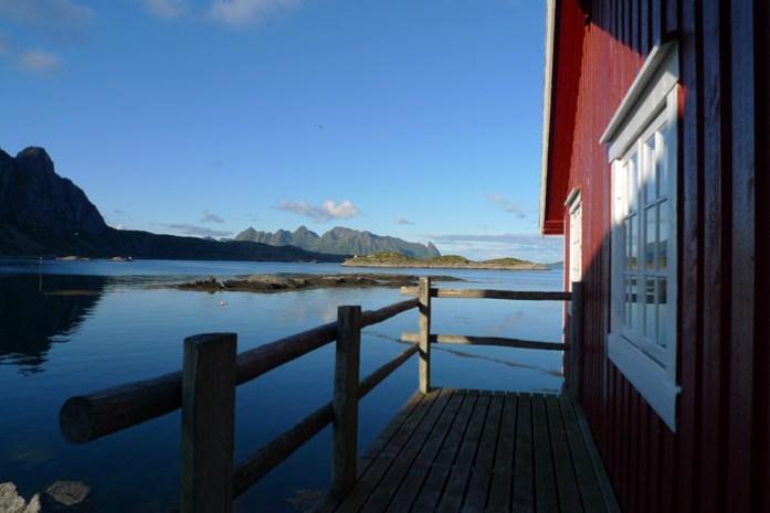 Svinøya Rorbuer. Ilhas lofoten Noruega de mota