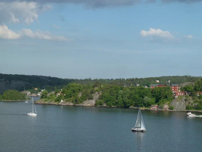 Travessia de ferry Estocolmo - Hensínquia. Mar Báltico