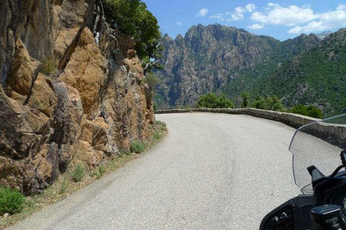 Gorges de la Spelunca d84 dangerous road in europe. Córsega