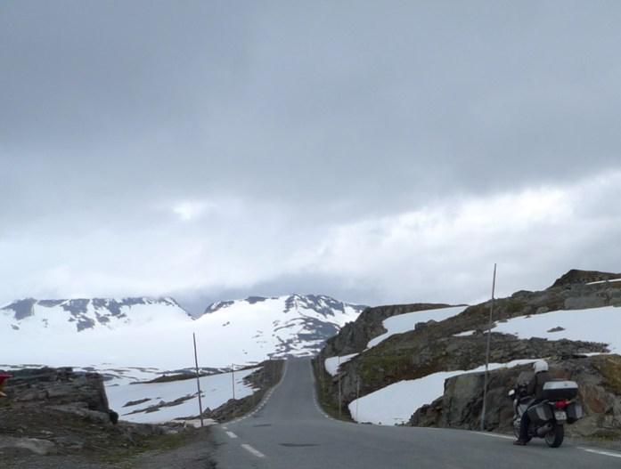 Sognefjellet de mota pela noruega