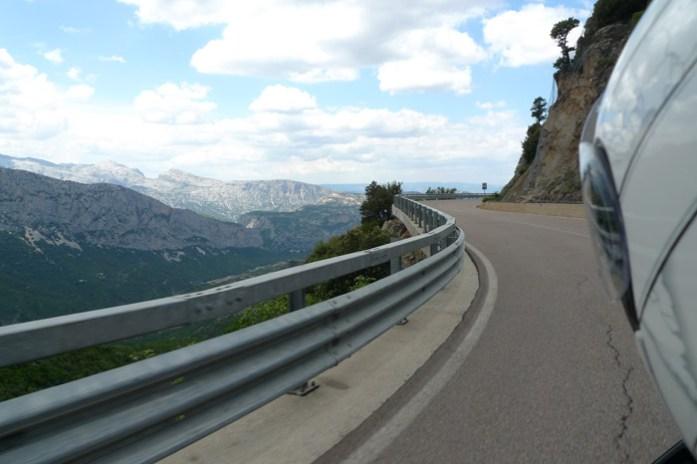 Passo Genna Silana, pela Estrada Oriental Sarda SS125 de mota