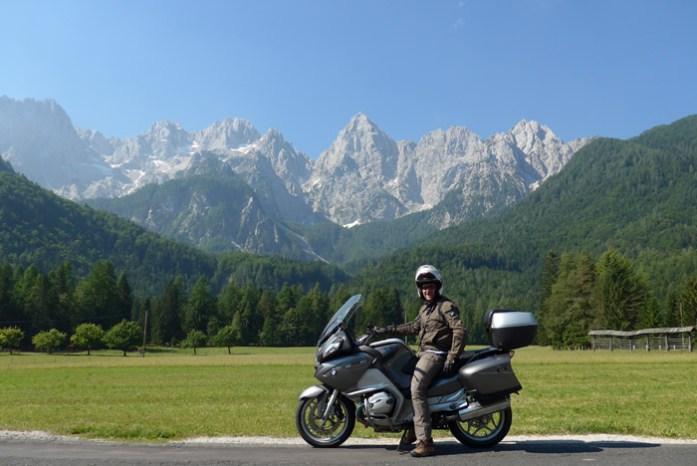 Viagem de mota pelos Alpes