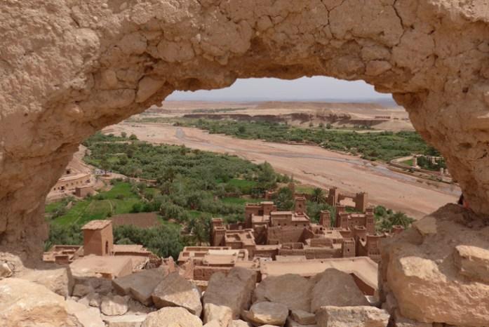Em Ait Ben Haddou num roteiro de viagem de mota por Marrocos
