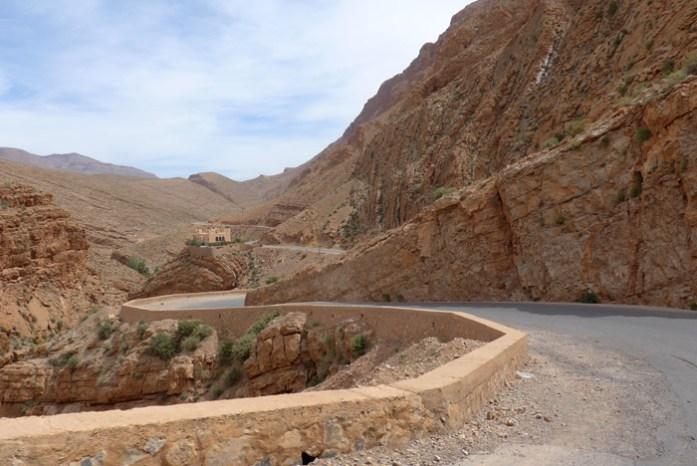 Viagem de mota a Marrocos. Gorges du Dadés