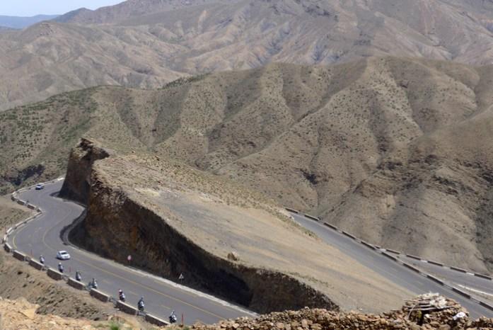 Viagem de mota a Marrocos. Tizi Tichka.