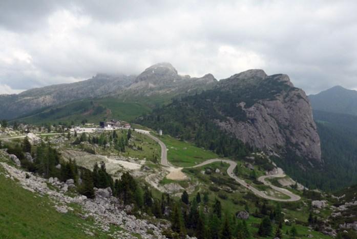 Viagem de mota nas Dolomites - Passo Falzarego