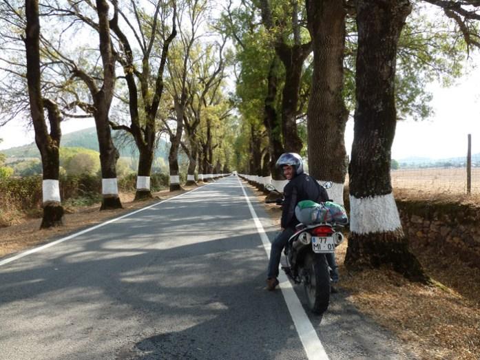 Na Estrada 246-1 entre Portagem e Marvão durante a nossa primeira viagem de mota.