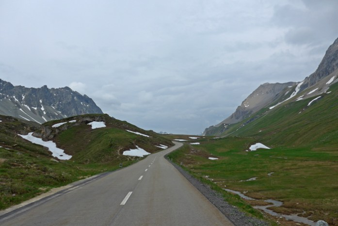 Viagem de mota aos Alpes Suíços. No Julier Pass.