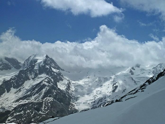 Em St Moritz no Pico de Corvatsch aos 3303m de altitude.