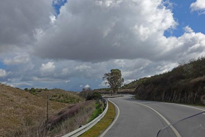Vale do Guadiana em Mértola. Estrada N265.