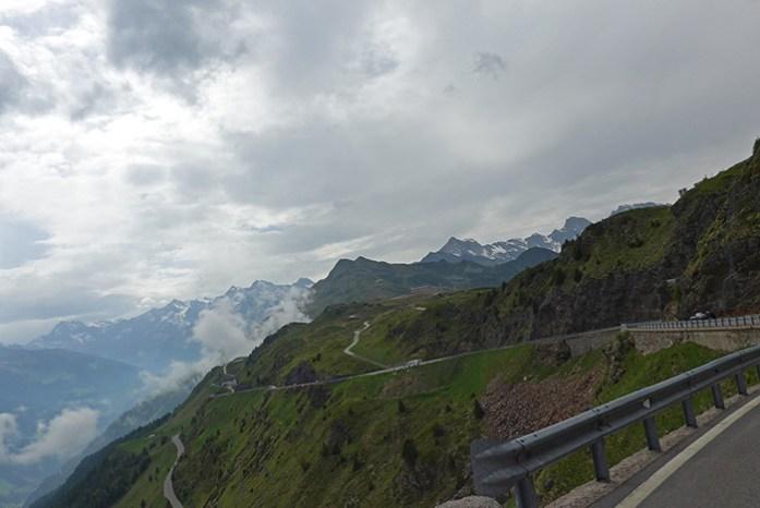 Jaufenpass no Vale Passeiertal. As melhores estradas dos Alpes Italianos.