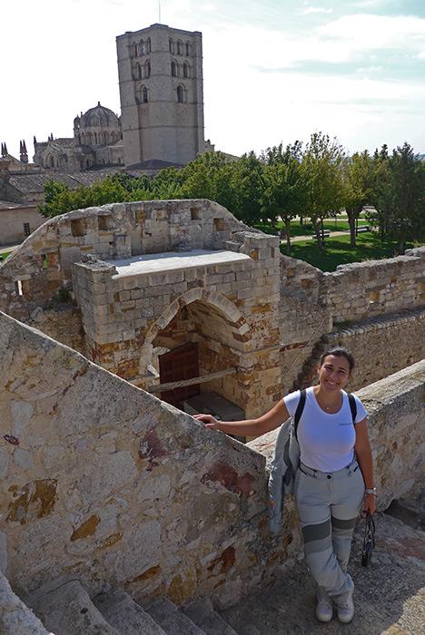 Castelo de Zamora e a Catedral.