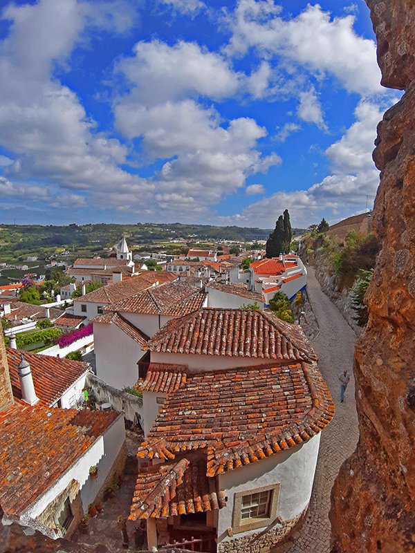 Vista das Muralhas de Óbidos