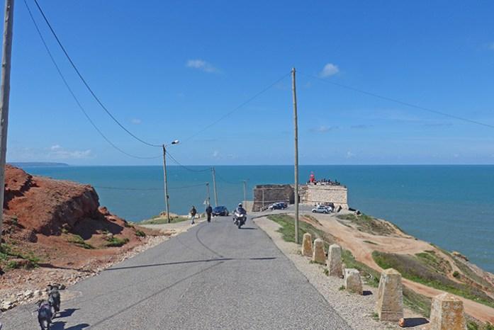 Farol da Nazaré. Ponto de Observação das ondas gigantes na Praia do Norte.