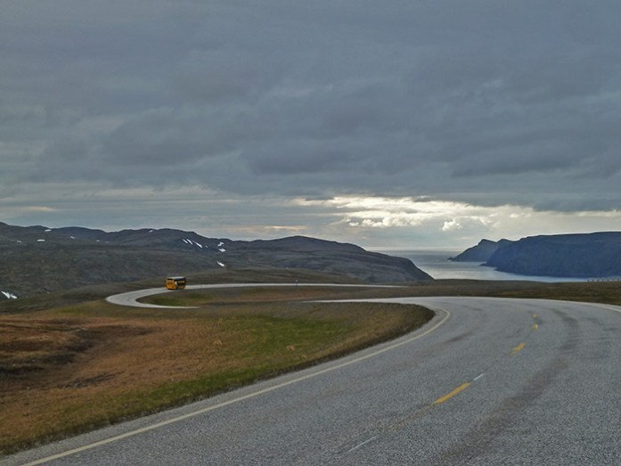 Viagem de mota ao Cabo Norte. Pelos Fiordes da Noruega, estrada E69.