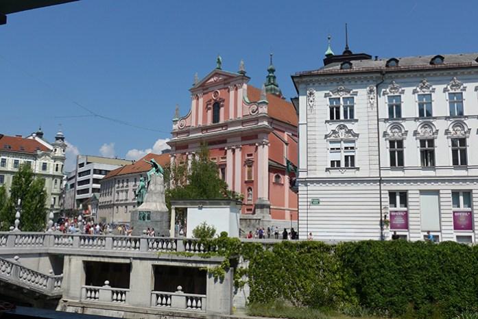 Centro histórico de Liubliana. Capital da Eslovénia