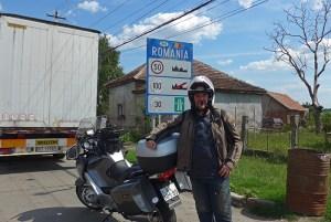 Viagem de mota à Roménia. Fronteira norte
