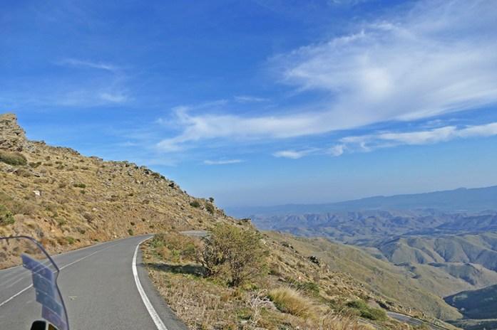 La Tetica ou Passo de Puerto de Velefique. De moto pela Andaluzia, Espanha.