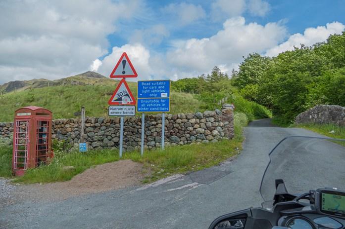Hardknott Pass, Estradas Panorâmicas Em Lake District. Entrada oeste.