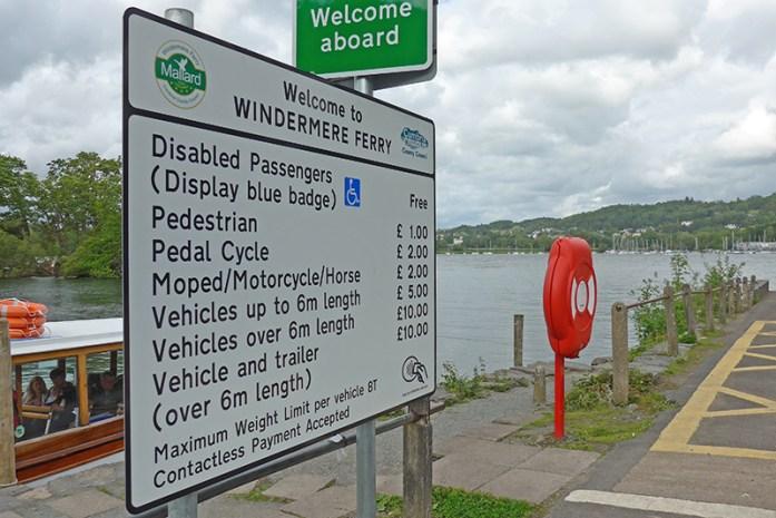 Ferry Windermere Lake