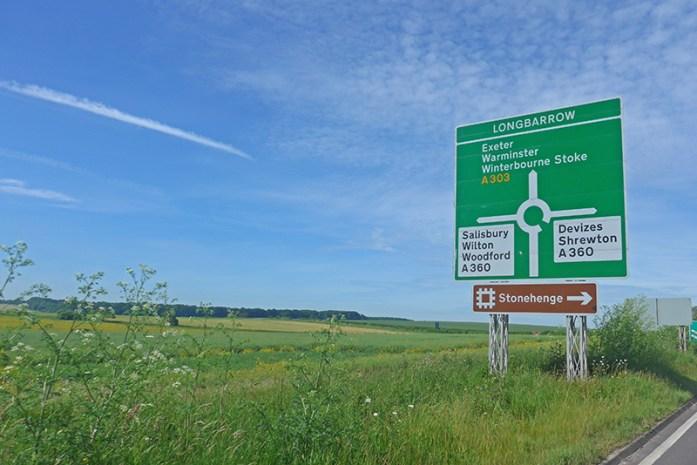 Estrada A303, Amesbury. Indicações para visitar Stonehenge
